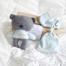 Medvés babaváró csomag - türkiz