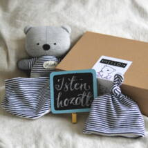 Medvés babaváró csomag - kék