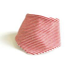 Piros-fehér csíkos frottír nyálkendő