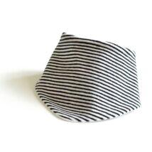 Kék-fehér csíkos frottír nyálkendő