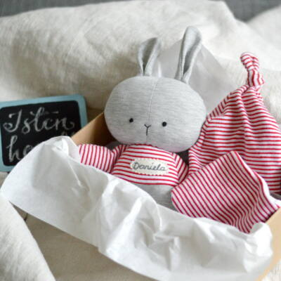 nyuszis babaváró csomag