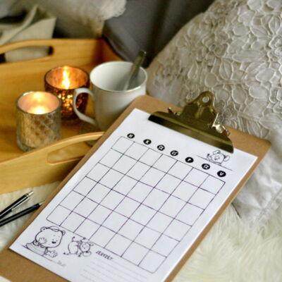 havi tervező naptár