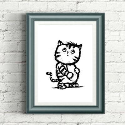 macska cica grafika