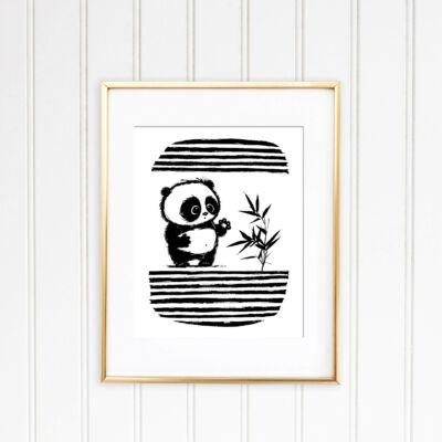 panda rajz grafika
