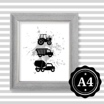 traktor illusztráció